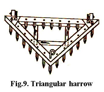 Triangular harrow