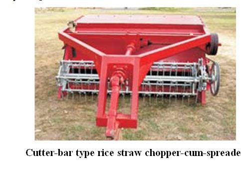 cutter-bar type rice straw chopper-cum-spreader
