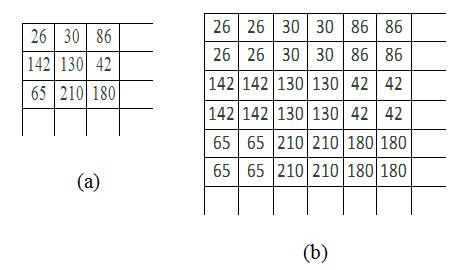 Fig. 11.3. a) Original image,  b) 2x magnified image