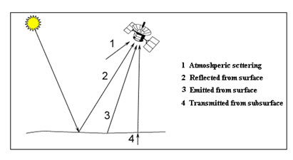 Fig. 14.4. Components of passive microwave signal