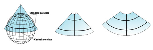 Fig. 23.3. (b) Secant conic projection