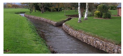 12.6. Use of Gabions for Protecting the Stream Bank from Erosion