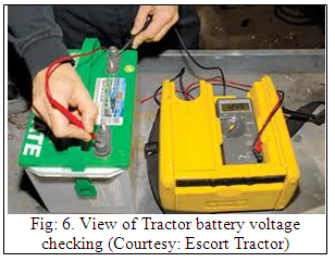 MT&FM: LESSON 9  Maintenance of electrical system of tractor