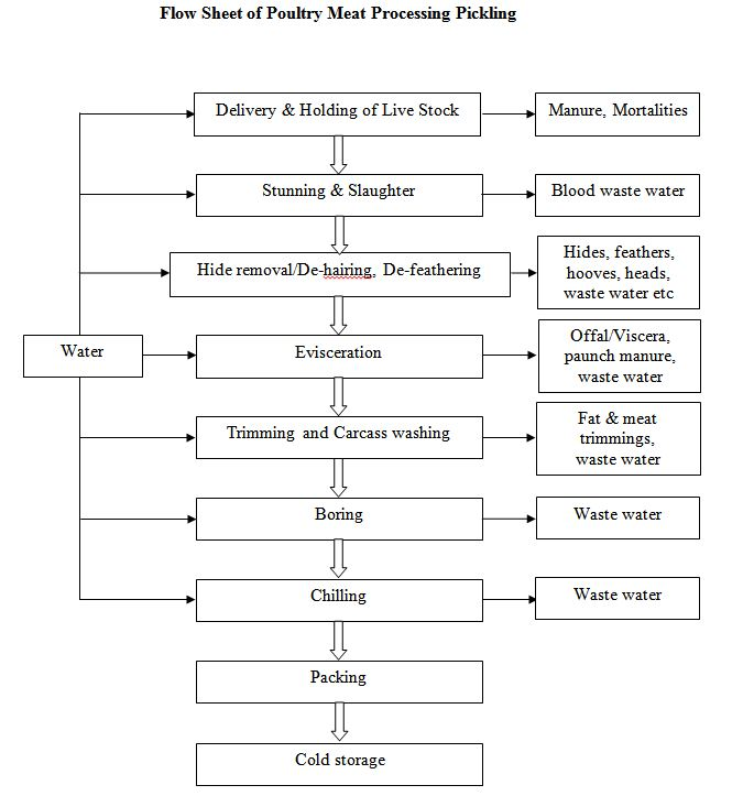 Flow Sheet of Poultry Meat Processing Pickling